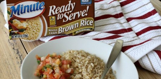 This easy rice bowl recipe is flavorful, filling and comes together in under 10 minutes. You can beat that!