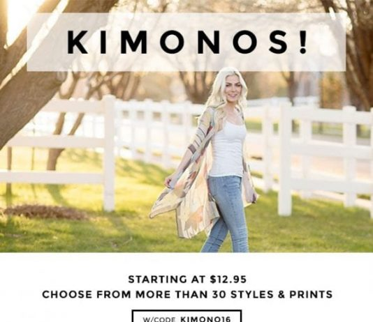 Kimono fashion - wear a kimono with jeans, over a swimsuit, over your favorite summer dress or with shorts and a tee. The style possibilities are endless!