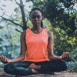woman meditating 6 apps to destress